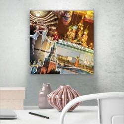 Wandleuchte Quadro Stadt Moskau
